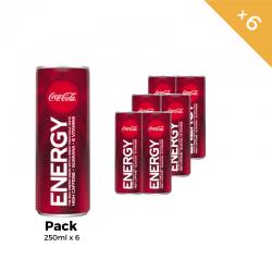 Coca-Cola Energy 250 ml pack de 6 Canettes