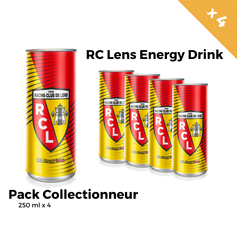RC Lens Energy Drink Pack Collectionneur 4 Canettes