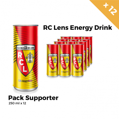 RC Lens Energy Drink Pack Supporter 12 Canettes