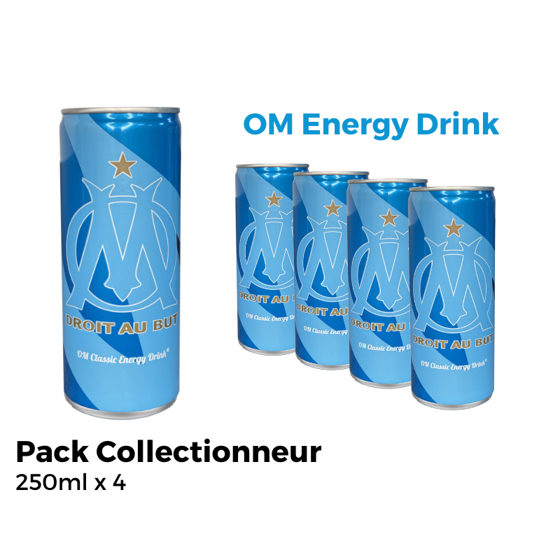 OM Energy Drink Pack Collectionneur 4 Canettes