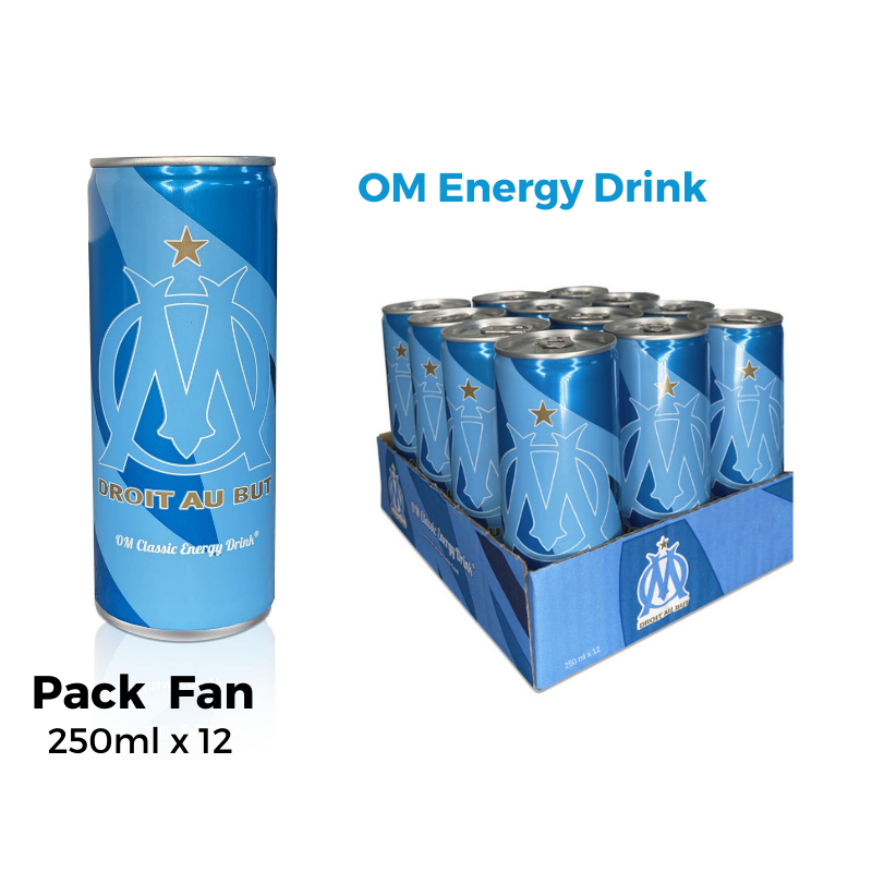 OM Energy Drink Pack Fan 12 Canettes